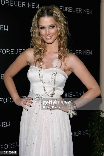 Delta Goodrem arrives at the launch of Forever New's Spring Collections at Ripponlea Mansion on July 29 2010 in Elsternwick Australia
