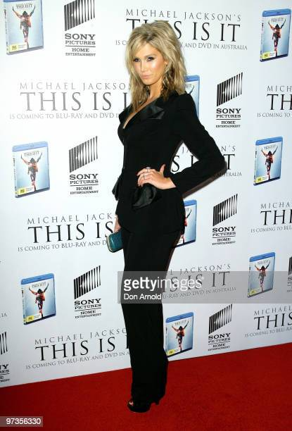 Delta Goodrem arrives at the VIP Tribute show to mark the DVD release of the Michael Jackson documentary 'This Is It' at City Recital Hall on March 2...