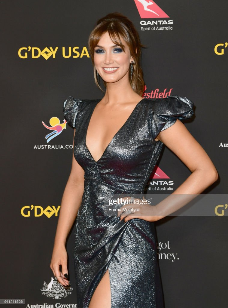 Delta Goodrem attends 2018 G'Day USA Los Angeles Black Tie Gala at InterContinental Los Angeles Downtown on January 27, 2018 in Los Angeles, California.