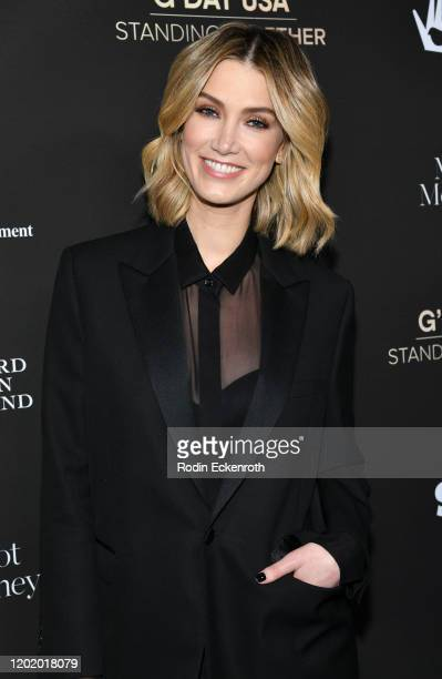 Delta Goodrem attends G'Day USA 2020 | Standing Together Dinner at the Beverly Wilshire Four Seasons Hotel on January 25 2020 in Beverly Hills...