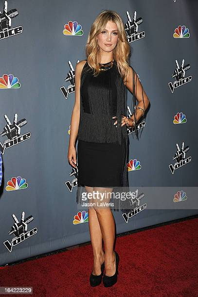 Delta Goodrem attends NBC's 'The Voice' season 4 premiere at TCL Chinese Theatre on March 20 2013 in Hollywood California