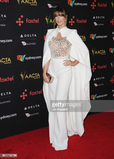 Delta Goodrem attends the 7th AACTA International Awards at Avalon Hollywood on January 5 2018 in Los Angeles California