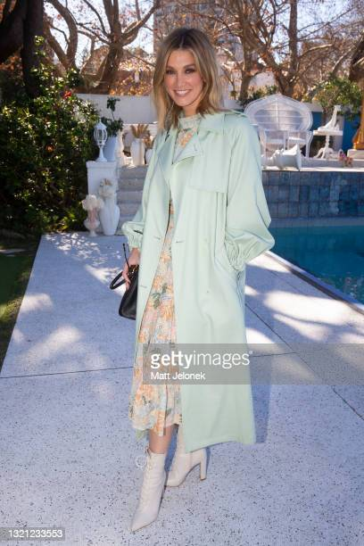 Delta Goodrem attends the We Are Kindred show during Afterpay Australian Fashion Week 2021 Resort '22 Collections at Villa Orme on June 2, 2021 in...
