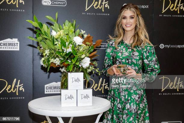 Delta Goodrem greets fans at Chadstone Shopping Centre on April 11 2017 in Melbourne Australia
