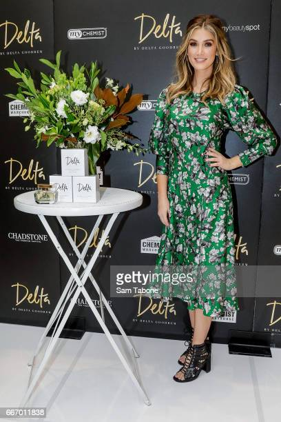 Delta Goodrem greets fans at Chadstone Shopping Centre on April 11 2017 in Melbourne Australia
