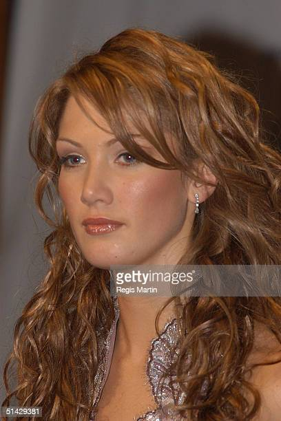Delta Goodrem in the media room for the 45th annual TV Week Logie Awards 2003 held at the Crown Casino Melbourne Australia