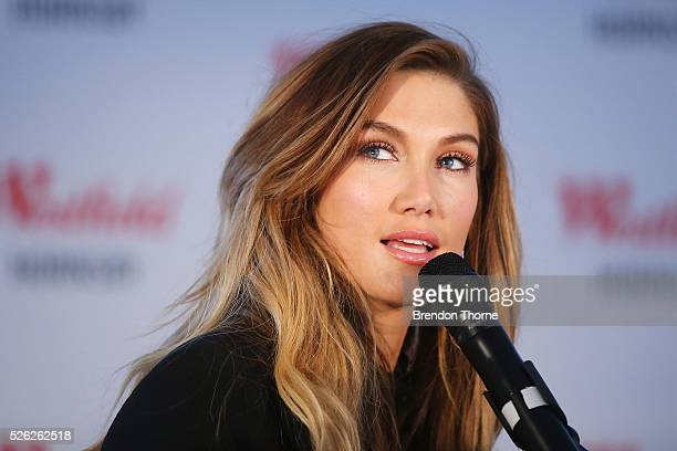 Delta Goodrem performs her new single Dear Life at Westfield Hornsby on April 30 2016 in Sydney Australia