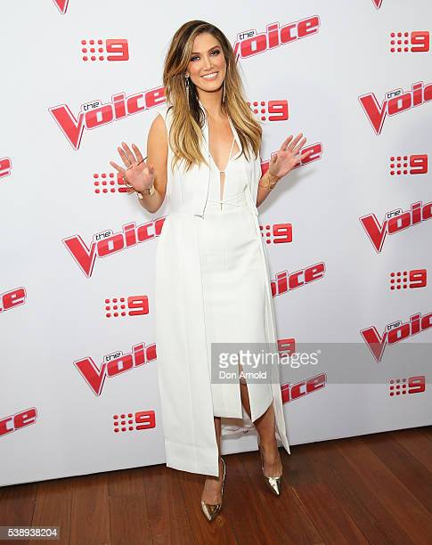 Delta Goodrem poses at the Voice 2016 Live Show Launch on June 9 2016 in Sydney Australia