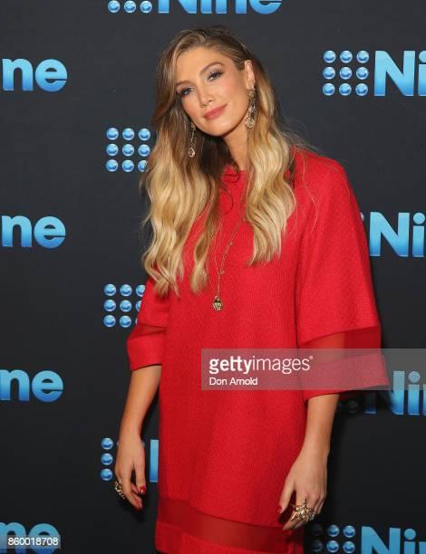Delta Goodrem poses during the Channel Nine Upfronts 2018 event on October 11 2017 in Sydney Australia