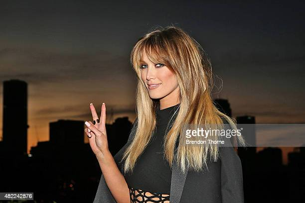 Delta Goodrem poses during the Voice Live Finals Show Launch on July 29 2015 in Sydney Australia
