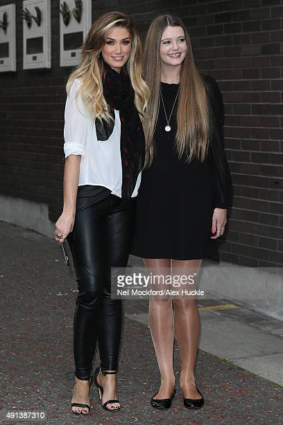 Delta Goodrem poses for a photo at the ITV Studios after appearing on Lorraine on October 5 2015 in London England