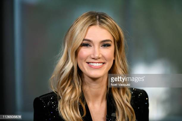 Delta Goodrem visits Extra at Universal Studios Hollywood on January 31 2019 in Universal City California