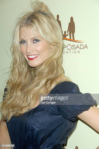 Delta Lea Goodrem Australian singersongwriter pianist and actress arrives at the 7th annual Heroes Of Hope gala on June 16 2008 at The Pierre in New...