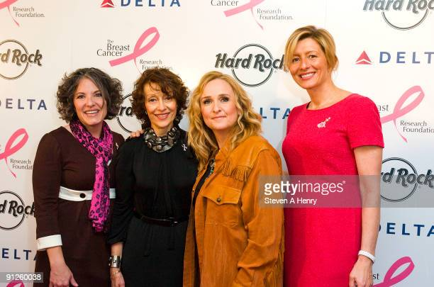 Delta's senior vice president of New York Gail Grimmett Founder and Chair of the Breast Cancer Research foundation Evelyn Lauder Musician Melissa...