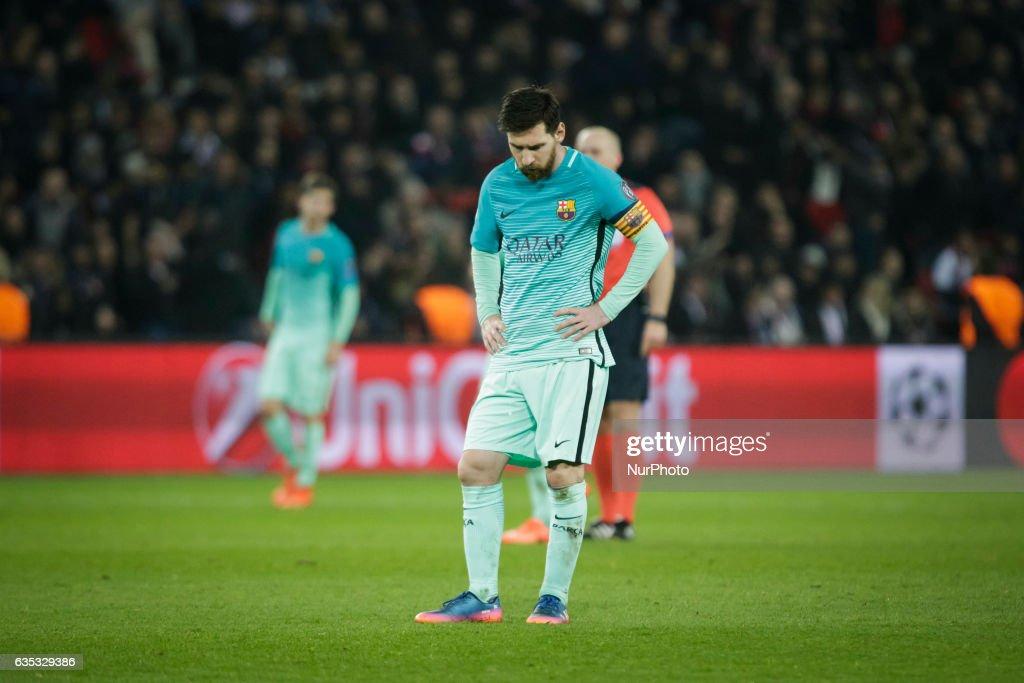 Paris Saint-Germain v FC Barcelona - UEFA Champions League Round of 16: First Leg : News Photo