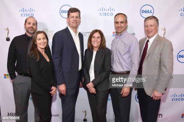 Deluxe Entertainment Services Group honorees Michael Brown Stefanie Amber Allan Lamkin Cindy McKenzie Dan Restmeyer and Brad Martinez attend the...