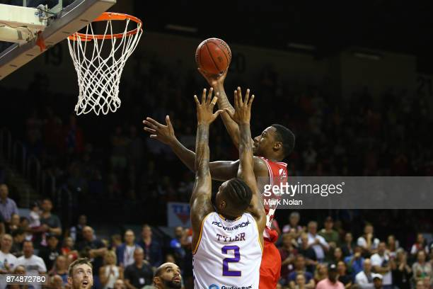 Delvon Johnson of the Hawks drives to the basket during the round seven NBL match between the Illawarra Hawks and the Sydney Kings at Wollongong...