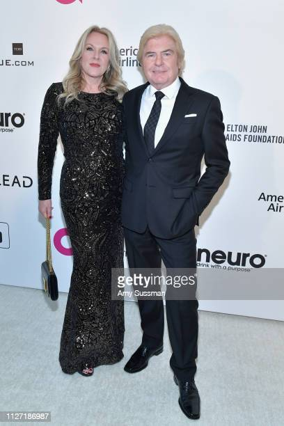 DeLynn Abernathy and Bob Abernathy attend the 27th annual Elton John AIDS Foundation Academy Awards Viewing Party celebrating EJAF and the 91st...