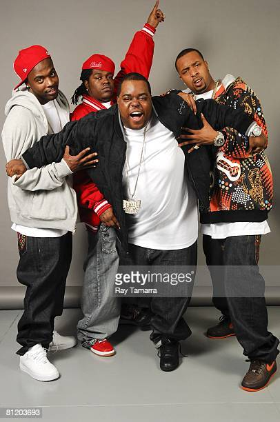 Dem Franchize Boyz members Gerald Buddie Tiller Maurice Parlae Gleaton Bernard Jizzal Man Leverette and Jamall Pimpin Willingham poses for photos at...