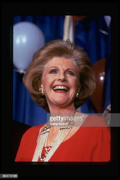 Dem fundraiser Pamela Harriman attending Democrats for the 1980's fundraiser