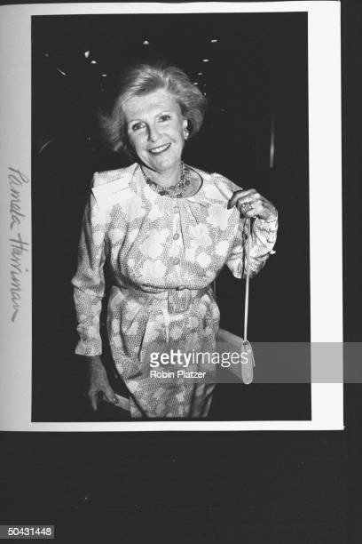 Dem Party activist Pamela Harriman arriving at the Supper Club for party for Dem supporters hosted by TX Gov Ann Richards during the wk of the Dem...