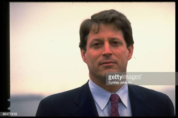 Dem presidential hopeful Sen Al Gore during primary campaign event