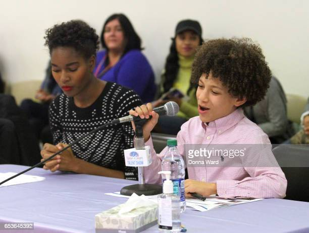 Demairs Lewis and Brandon Niederauer appear during the 11th Annual Garden of Dreams Talent Show rehearsal at Radio City Music Hall on March 15 2017...