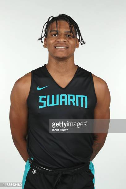 Demajeo Wiggins of the Greensboro Swarm poses for a headshot during NBA G League media day at Hayes-Taylor Memorial YMCA in Greensboro, North...
