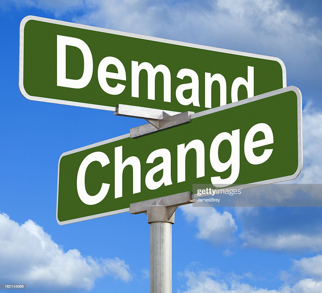 Demand Change Street Sign : Stock Photo