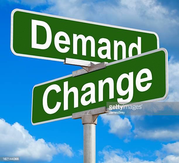 Demand Change Street Sign