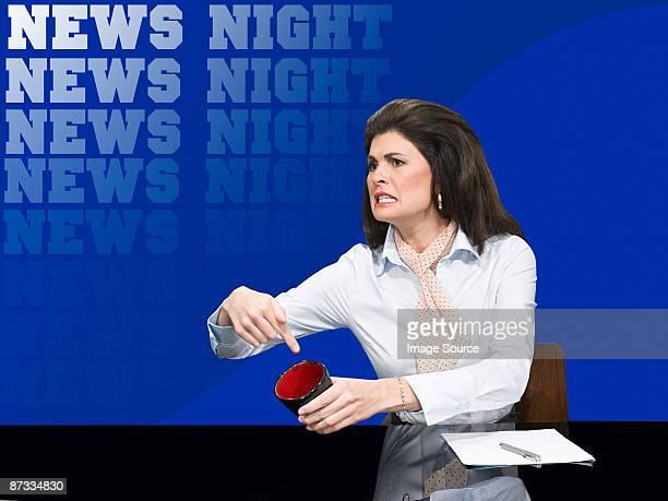 Demanding news presenter