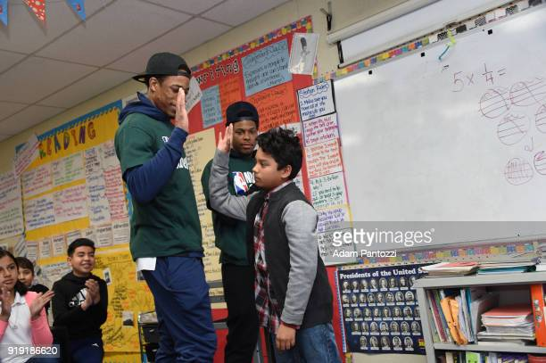 DeMar DeRozan and Kyle Lowry of the Toronto Raptors participate with KaBOOM during NBA Cares AllStar Day of Service as a part of 2018 NBA AllStar...