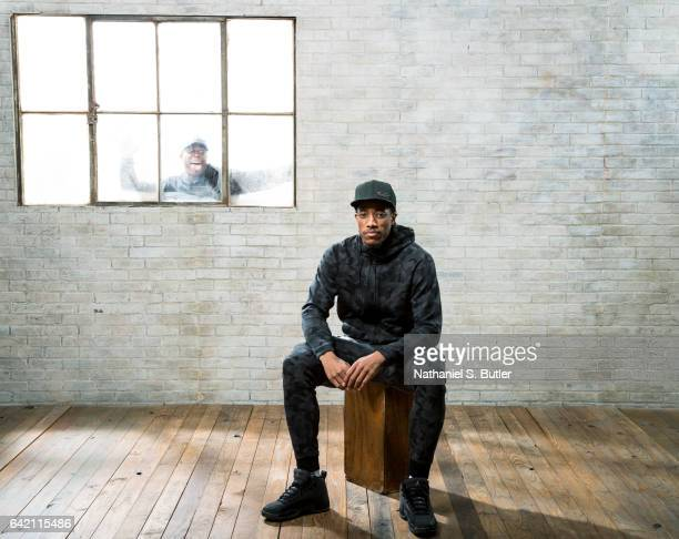 DeMar DeRozan and Kyle Lowry of the Toronto Raptors poses for a photo during the 2017 AllStar Media Circuit at the Ritz Carlton in New Orleans LA...