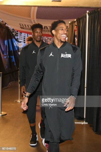DeMar DeRozan of team Stephen is seen during the NBA AllStar Game as a part of 2018 NBA AllStar Weekend at STAPLES Center on February 18 2018 in Los...
