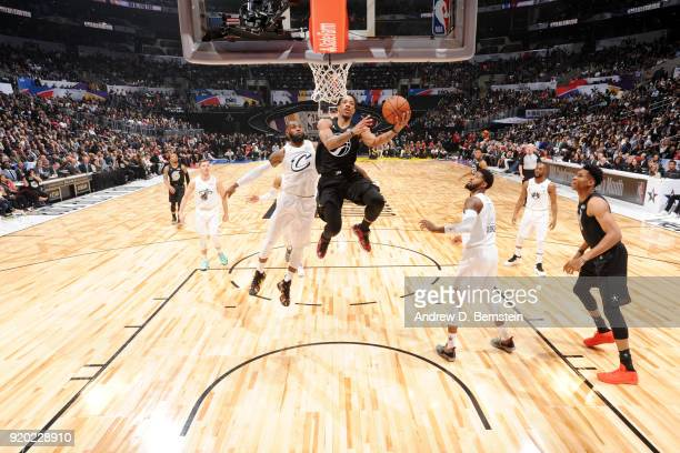 DeMar DeRozan Of Team Stephen shoots the ball during the NBA AllStar Game as a part of 2018 NBA AllStar Weekend at STAPLES Center on February 18 2018...