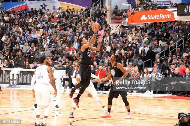 DeMar DeRozan Of Team Stephen shoots the ball during the NBA AllStar Game as a part of 2018 NBA AllStar Weekend at STAPLES Center on February 18 2018...