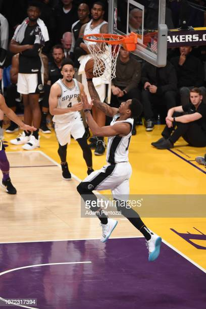 DeMar DeRozan of the San Antonio Spurs shoots the ball against the Los Angeles Lakers on December 5 2018 at STAPLES Center in Los Angeles California...