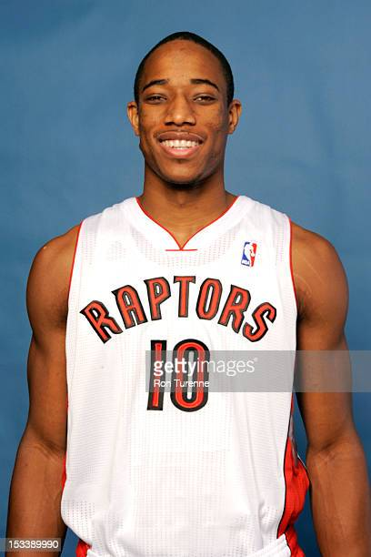 DeMar DeRozan of the Toronto Raptors poses for a portrait during a Media Day on October 1 2012 in Toronto Canada NOTE TO USER User expressly...