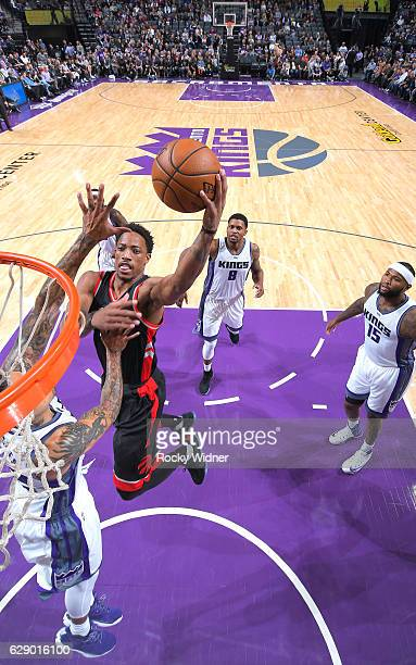 DeMar DeRozan of the Toronto Raptors shoots against the Sacramento Kings on November 20 2016 at Golden 1 Center in Sacramento California NOTE TO USER...