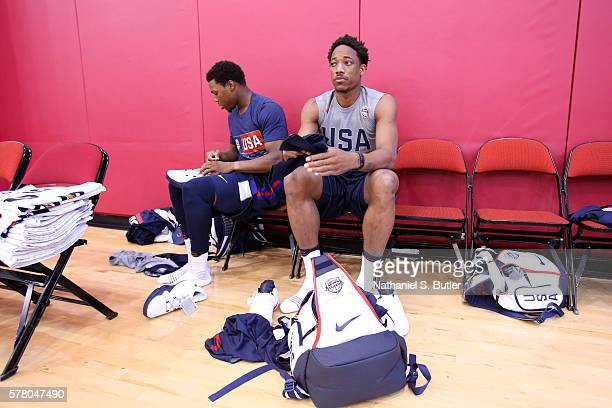 DeMar DeRozan of the USA Basketball Men's National Team during practice on July 18 2016 at Mendenhall Center on the University of Nevada Las Vegas...