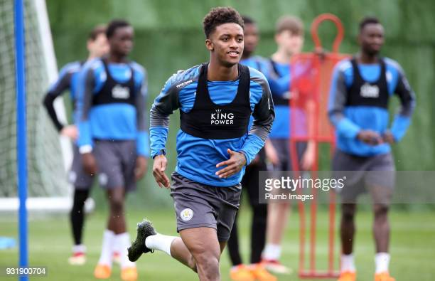 Demarai Gray during the Leicester City training session at the Marbella Soccer Camp Complex on March 14 2018 in Marbella Spain