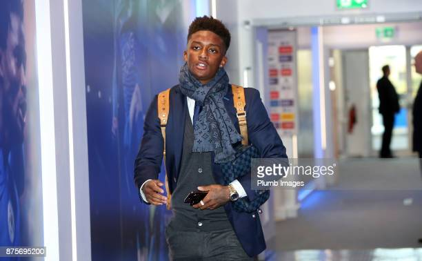 Demarai Gray of Leicester City arrives prior to kickoff during the Premier League match between Leicester City and Manchester City at The King Power...