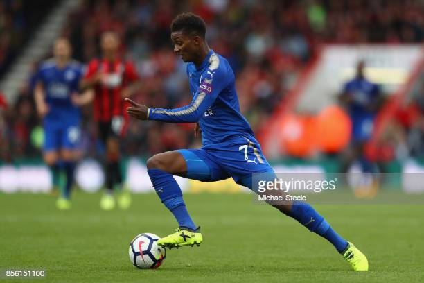 Demarai Gray of Leicester City during the Premier League match between AFC Bournemouth and Leicester City at Vitality Stadium on September 30 2017 in...