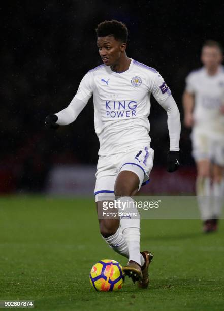 Demarai Gray of Leicester City during the Premier League match between Watford and Leicester City at Vicarage Road on December 26 2017 in Watford...