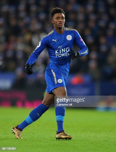 Demarai Gray of Leicester City during the Premier League match between Leicester City and Manchester United at The King Power Stadium on December 23...