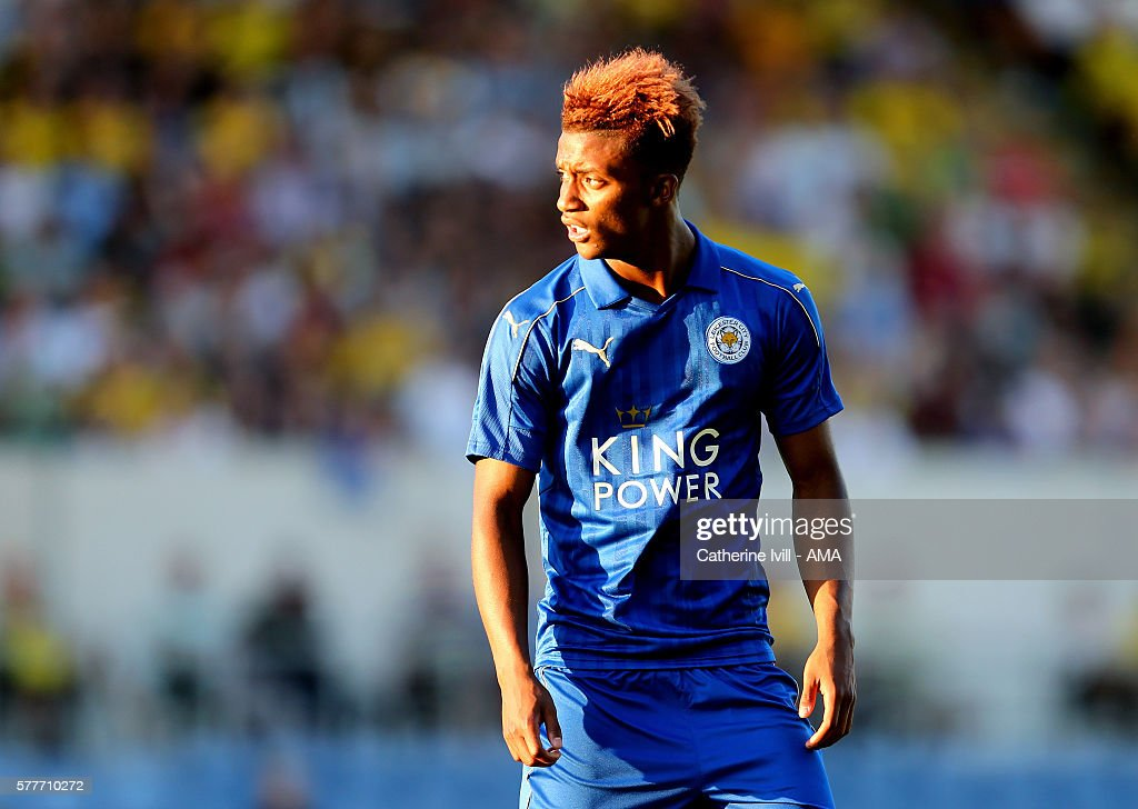 Demarai Gray of Leicester City during the Pre-Season Friendly match between Oxford United and Leicester City at Kassam Stadium on July 19, 2016 in Oxford, England.