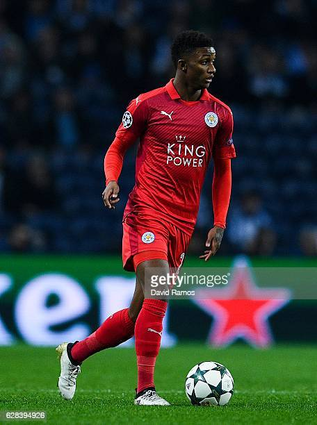 Demarai Gray of Leicester City FC runs with the ball during the UEFA Champions League match between FC Porto and Leicester City FC at Estadio do...
