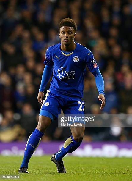 Demarai Gray of Leicester City in action during The Emirates FA Cup third round match between Tottenham Hotspur and Leicester City at White Hart Lane...