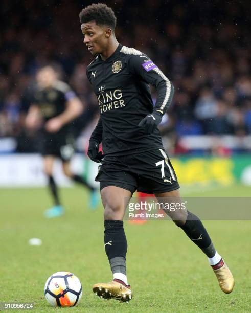 Demarai Gray of Leicester City in action during The Emirates FA Cup Fourth Round tie between Peterborough United and Leicester City at ABAX Stadium...