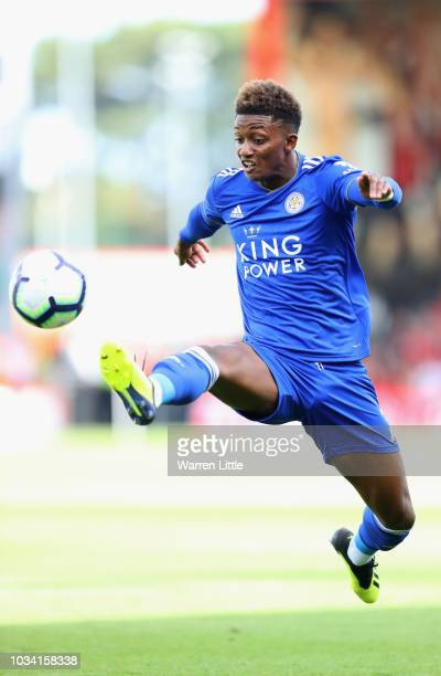 Demarai Gray of Leicester City in action during the Premier League match between AFC Bournemouth and Leicester City at Vitality Stadium on September...
